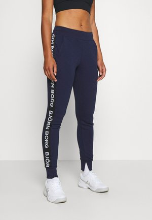 SPORT LOGO PANTS - Tracksuit bottoms - peacoat