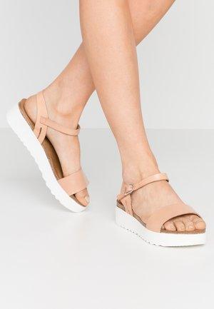 EDEN - Platform sandals - sand