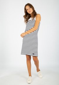 Armor lux - BELLE-ILE - Jersey dress - blanc/rich navy - 1