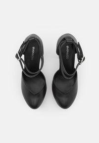 Even&Odd Wide Fit - LEATHER - Lodičky na vysokém podpatku - black - 3