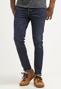 Pier One - Slim fit jeans - dark blue denim - 0