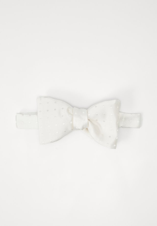 LUSTROUS BOW TIE - Mucha - white