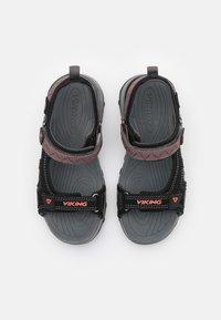 Viking - SANDOEY UNISEX - Walking sandals - black/red - 3