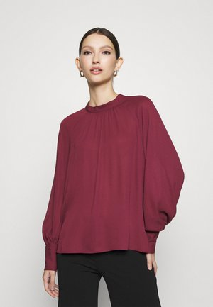 VILUCY BALLON SLEEVES CAMP - Long sleeved top - tawny port