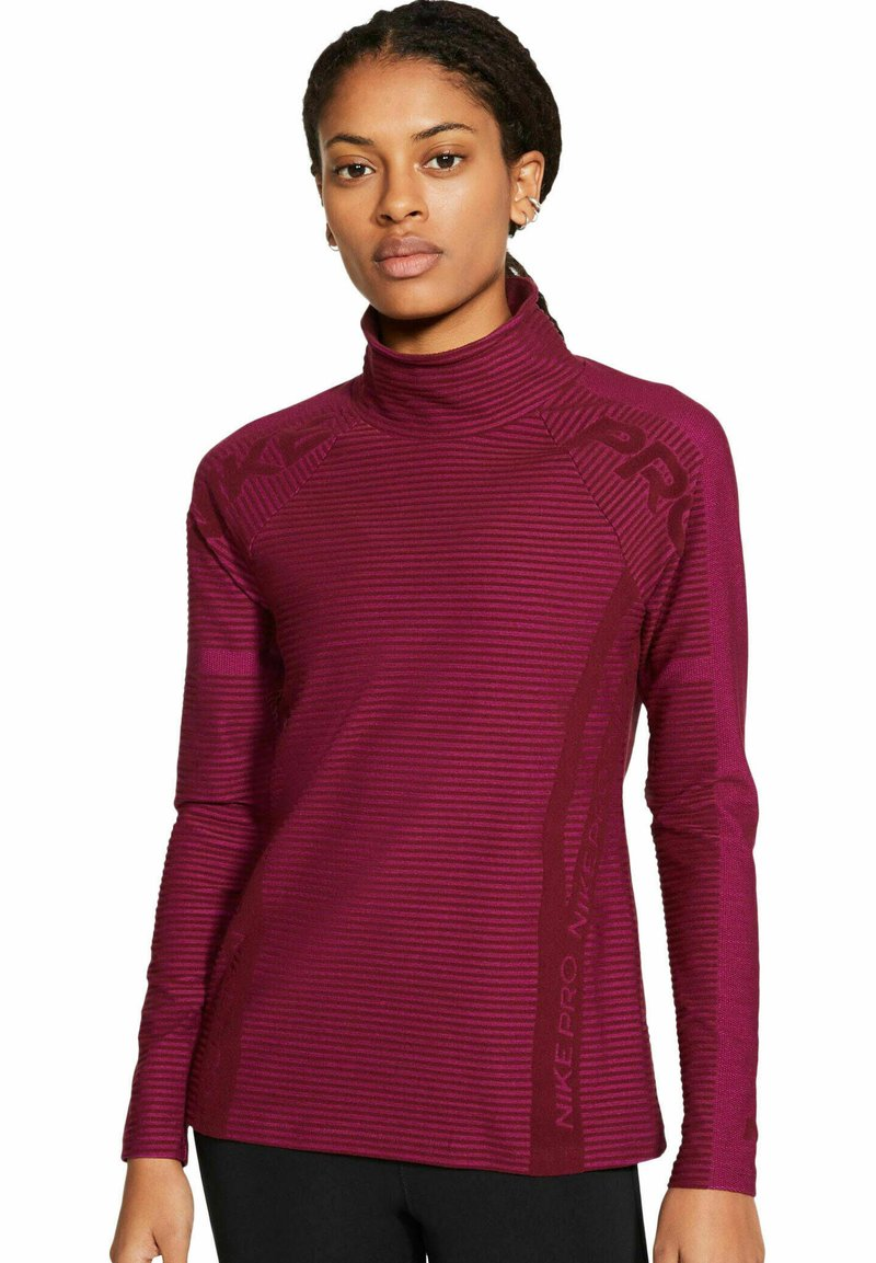 Nike Performance - PRO HYPERWARM - Sweatshirt - bordeaux