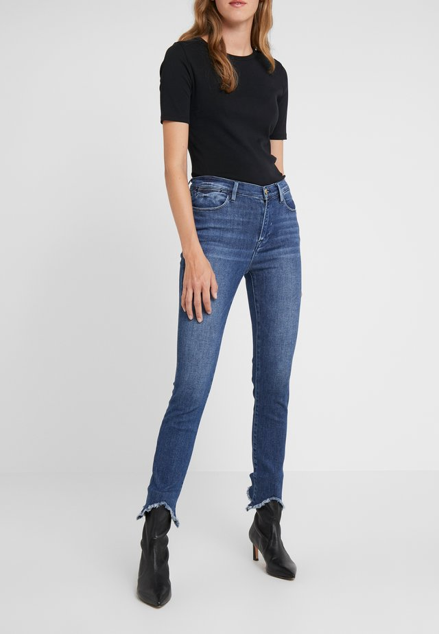 LE HIGH SKINNY DOUBLE TRIANGLE RAW - Jeans Skinny Fit - bestia