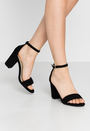 BLOCK MID HEEL - Sandals - black