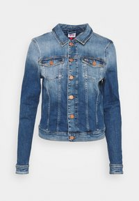 VIVIANNE SLIM - Denim jacket - harlow mid blue stud