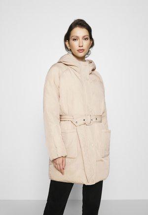 ONLSYDNEY BELTED PUFFER - Winter coat - humus