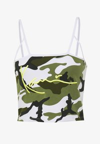 Karl Kani - SIGNATURE CAMO CROPPED - Top - green/white/black/yellow - 3