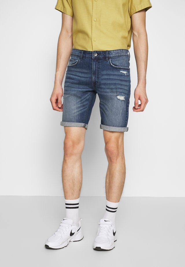 OSLO - Short en jean - hard blue
