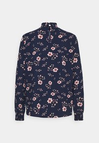 Vero Moda - VMGALLIE HIGH NECK SMOCK - Long sleeved top - navy blazer - 1