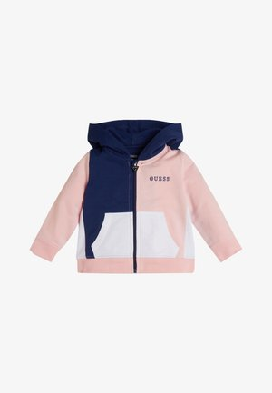 veste en sweat zippée - mehrfarbe rose