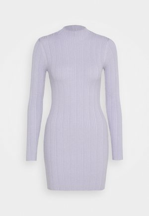 SKINNY HIGH NECK MINI DRESS - Day dress - purple