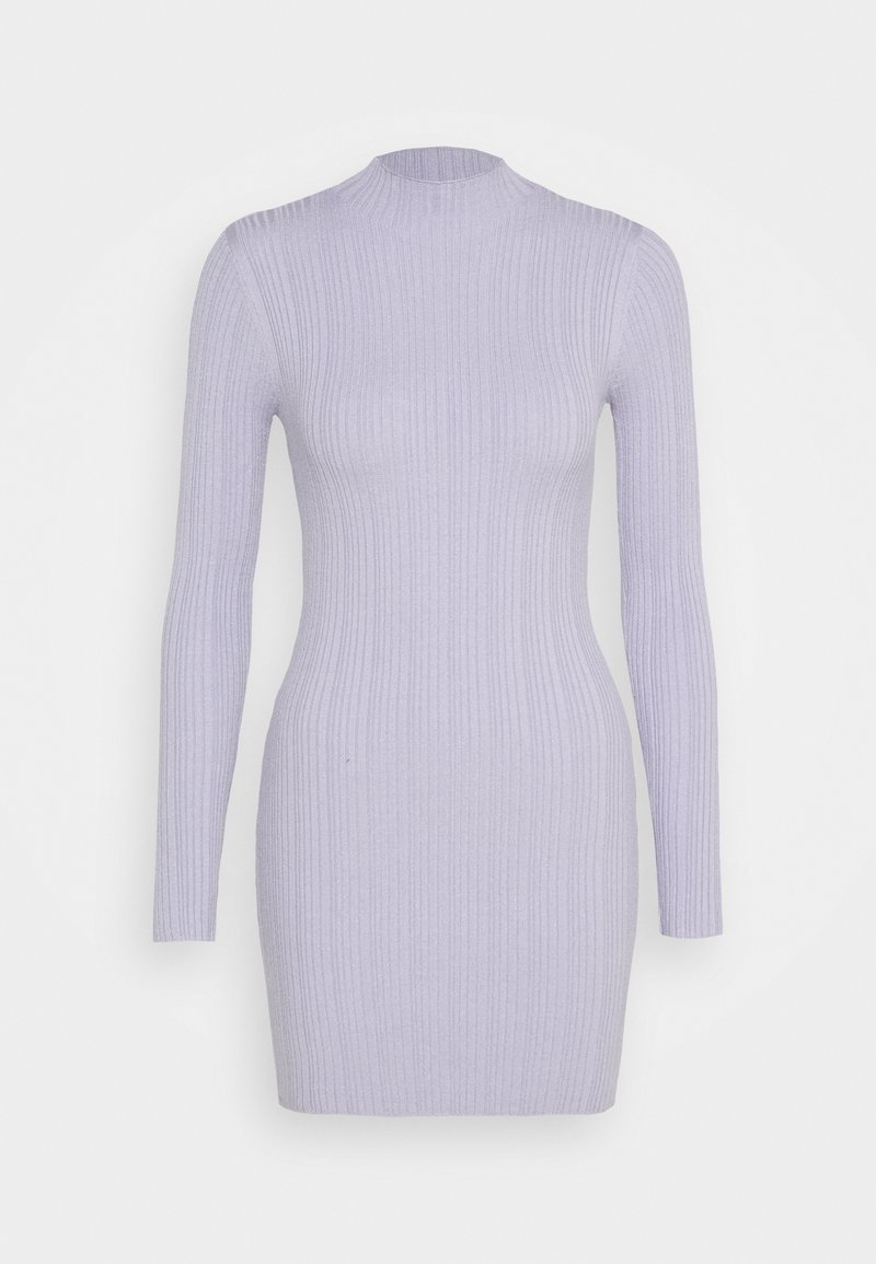 Missguided Petite - SKINNY HIGH NECK MINI DRESS - Day dress - purple