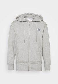 SLHCOREY HOOD ZIP - Zip-up sweatshirt - light grey melange