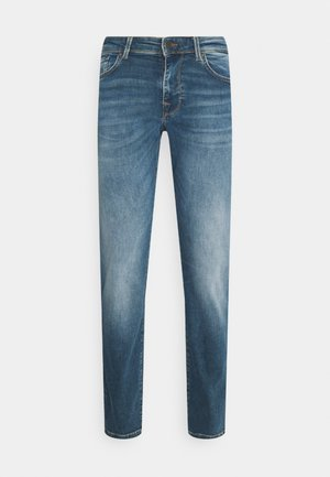 SLHSTRAIGHT SCOTT - Straight leg jeans - medium blue denim