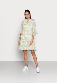 Esqualo - DRESS LAYERS VIRTUAL GARDEN - Day dress - multi-coloured - 0