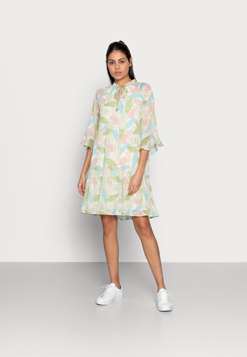 Esqualo - DRESS LAYERS VIRTUAL GARDEN - Day dress - multi-coloured