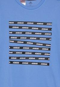 adidas Performance - TEE - T-shirts print - blue/black - 3