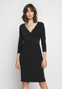 Lauren Ralph Lauren - MID WEIGHT DRESS - Shift dress - black - 0