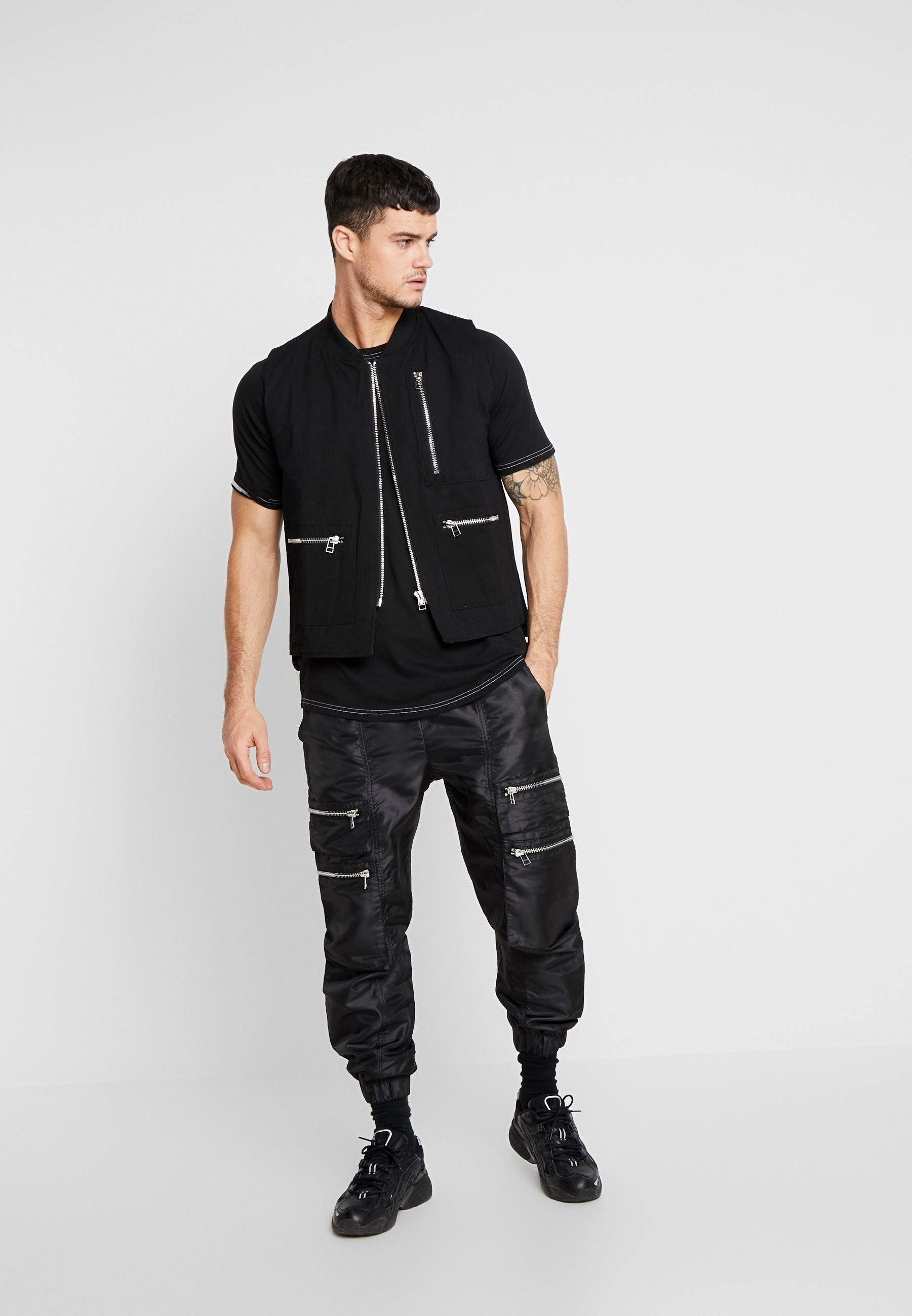 The Ragged Priest QUILTED GILET - Vest - black