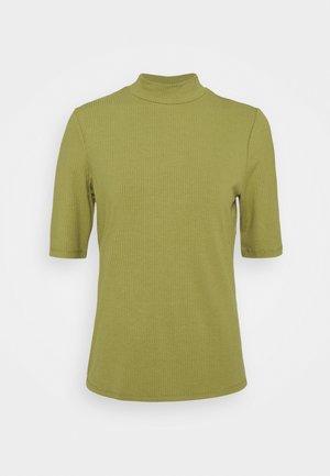 VISOLITTA FUNNELNECK - T-shirts - green olive