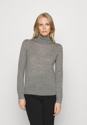ROLL NECK - Jumper - mottled grey