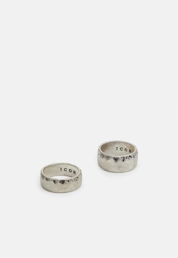 TEXTURED BAND 2 PACK - Ringar - silver-coloured