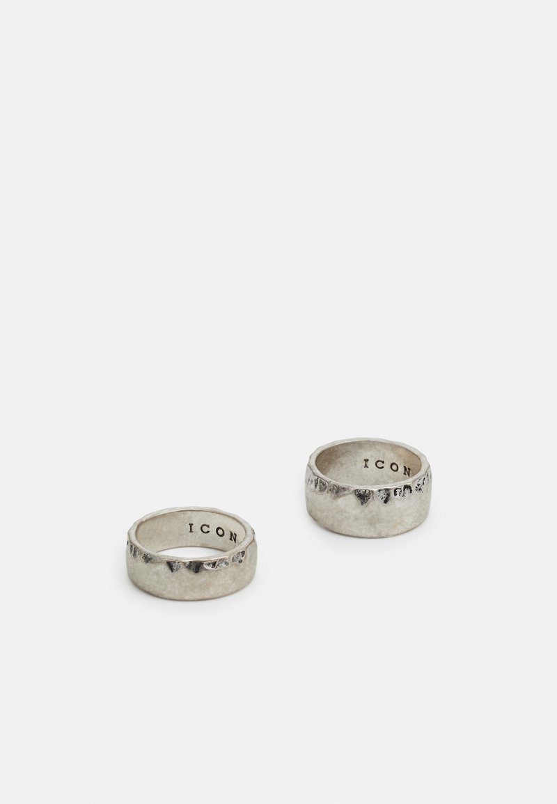 Icon Brand - TEXTURED BAND 2 PACK - Ring - silver-coloured