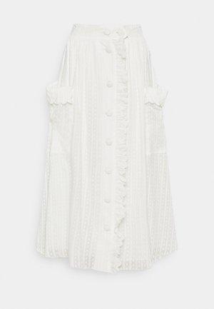 AURELIE - A-line skirt - white