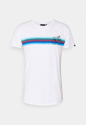 CASUAL BIKESTRIPE - Print T-shirt - white