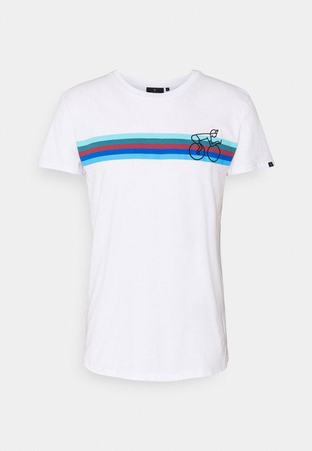 CASUAL BIKESTRIPE - T-shirts print - white