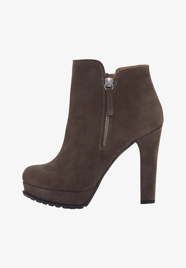 ZOE - High heeled ankle boots - taupe