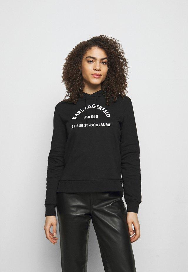 ADDRESS LOGO HOODIE - Sweatshirt - black