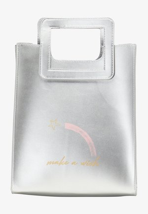 Handbag - silver metallic