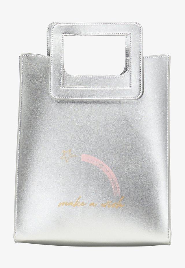 Borsa a mano - silver metallic