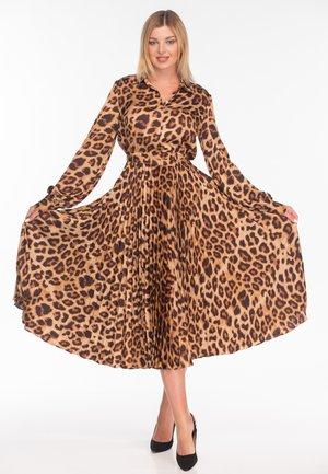 Shirt dress - leopard print