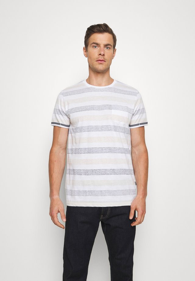 KADEEM STRIPE - T-shirt con stampa - gray blue