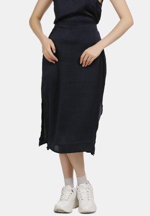 MIDI ROCK - A-line skirt - marine
