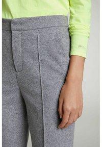 Oui - Trousers - grey melange - 3