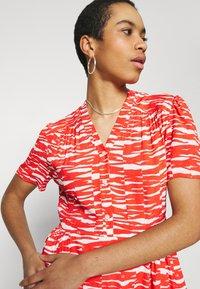 Calvin Klein - SHORT DRESS - Day dress - fiesta/ecru - 4