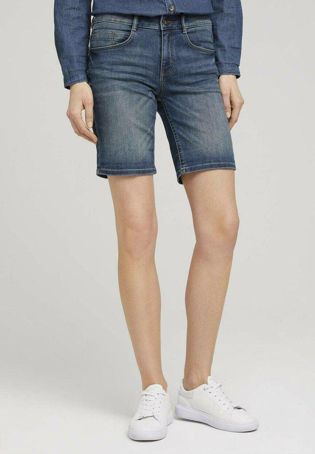 Shorts di jeans - mid stone wash denim