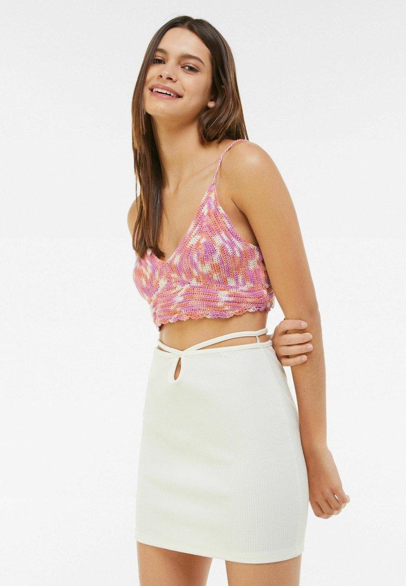 Bershka - Mini skirt - white