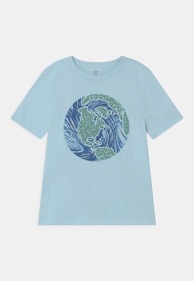 GAP - Print T-shirt - pacific mist