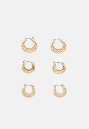 PCANDRI EARRINGS 3 PACK - Náušnice - gold-coloured