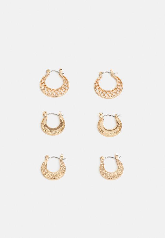 PCANDRI EARRINGS 3 PACK - Kolczyki - gold-coloured