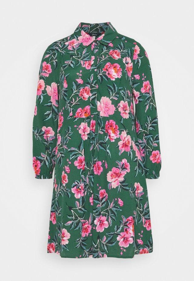 ATHENA - Košilové šaty - green floral