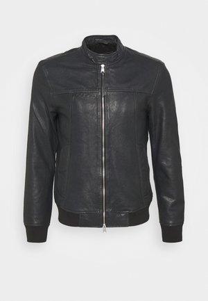 HALLOW - Leather jacket - black