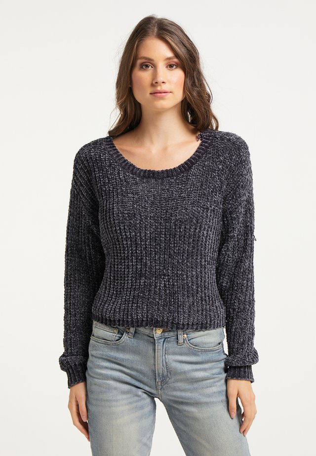 Sweter - dunkelgrau